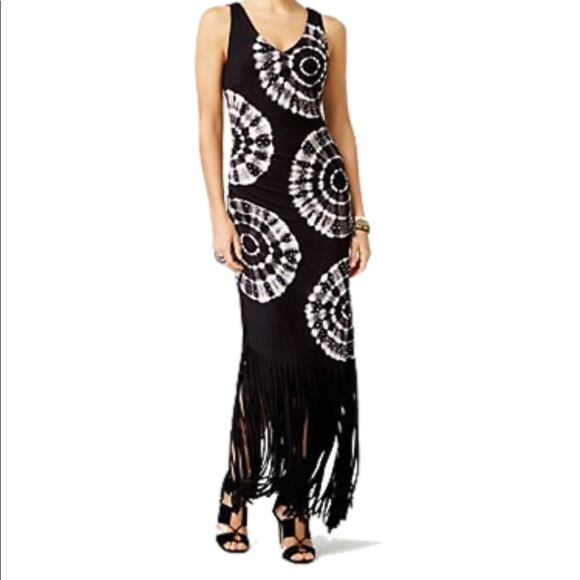 Inc International Concepts Dresses 25 Inc Tie Dye Black Dress With